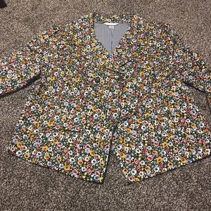 Christopher and Banks Floral Blazer sz XL
